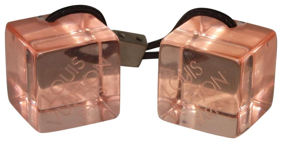 Louis Vuitton Louis Vuitton Pink Lucite Cube Ponytail Ties Hair Accessories  ... 95045439e01