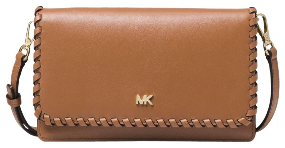 5cd582f77767 Michael Kors Whipstitched Convertible 32f8gf5c9o Acorn Leather Cross ...
