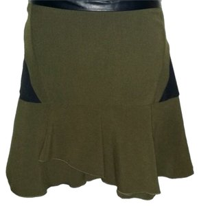 Aryn K Skirt OLIVE GREEN/BLACK