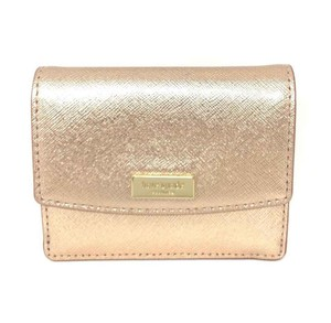 Kate Spade Kate Spade Petty Laurel way Mini ID Wallet with Key Ring Rose Gold
