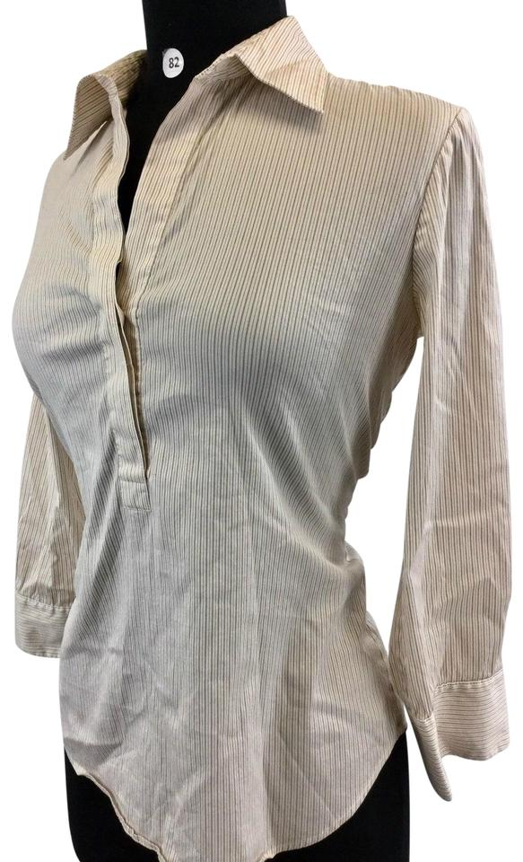 c06df6344bcab Theory Multicolor Stirpe Long Sleeve Women s Small (B-82) Blouse. Size  4  ...