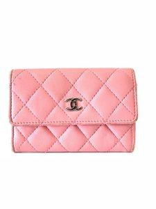 Chanel Pink Quilted Card Case Flap Holder 232184