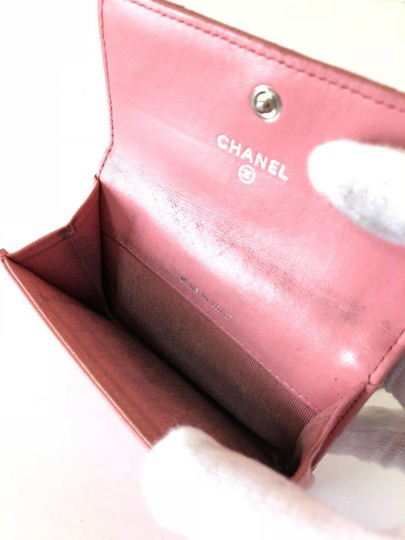 Chanel Pink Quilted Card Case Flap Holder 232184 Image 2