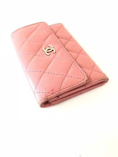 Chanel Pink Quilted Card Case Flap Holder 232184 Image 3