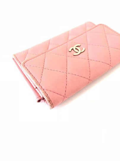 Chanel Pink Quilted Card Case Flap Holder 232184 Image 4
