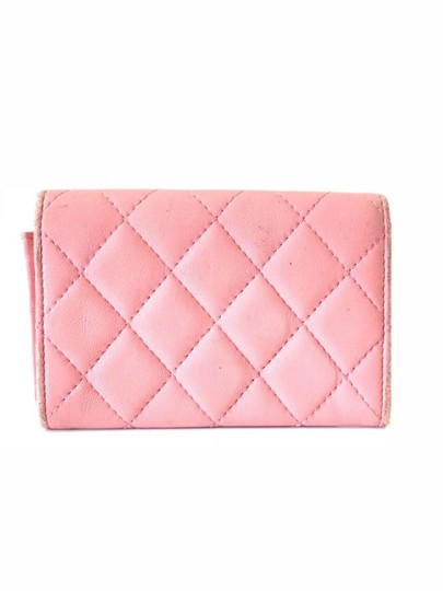 Chanel Pink Quilted Card Case Flap Holder 232184 Image 5