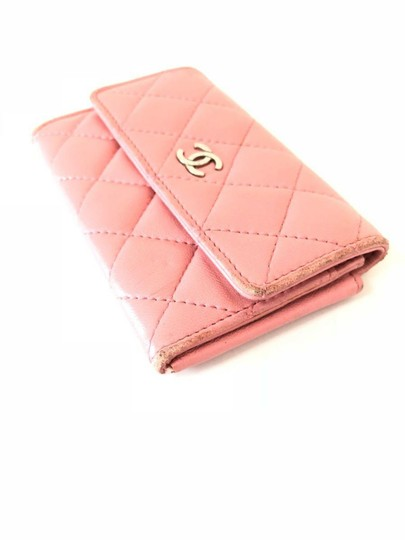 Chanel Pink Quilted Card Case Flap Holder 232184 Image 6