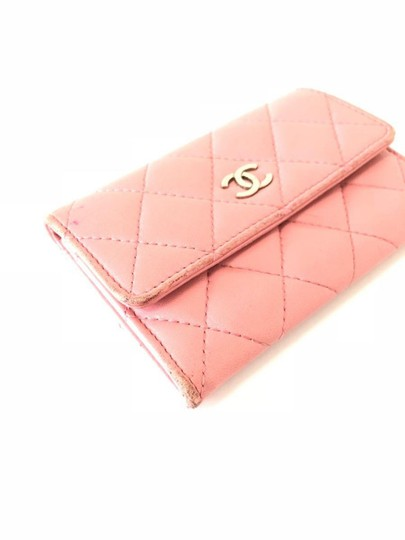 Chanel Pink Quilted Card Case Flap Holder 232184 Image 7