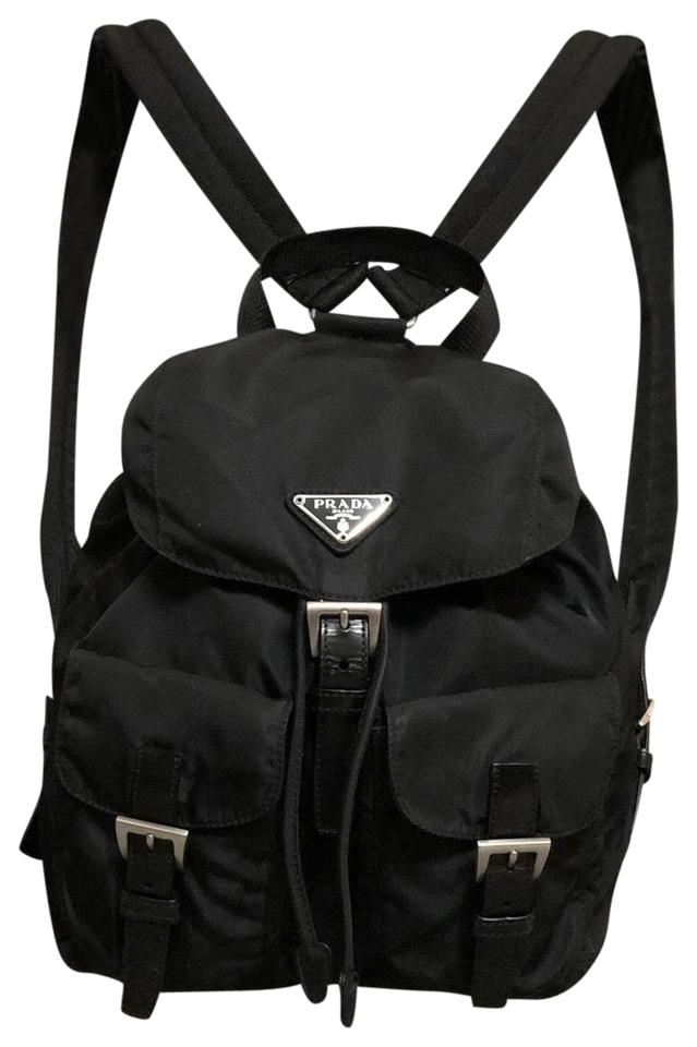 7dfddfb75e21 Prada Tessuto Nylon Small Nero Backpack - Tradesy
