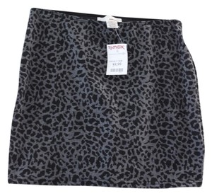 Sans Souci Mini Skirt Gray and Black
