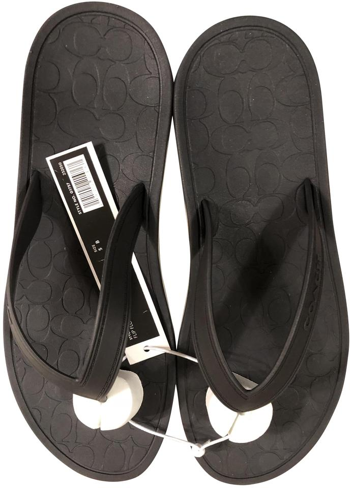 68d8ae90db02 Coach Very Dark Navy with Arch Support Thongs Sandals. Size  US 5 ...