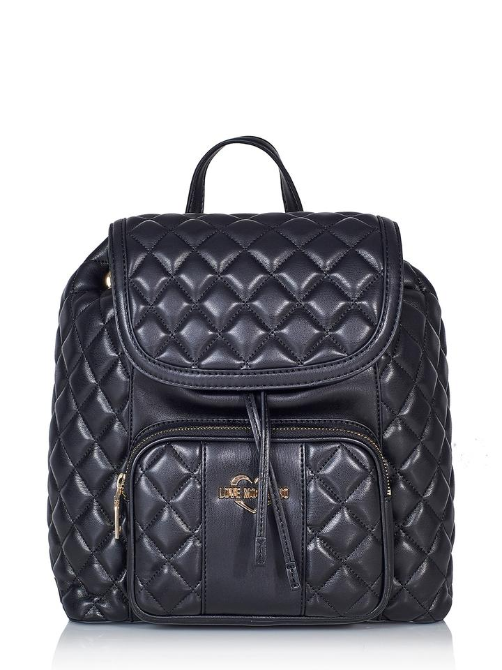 5346a08cfc29 Moschino Love  nwt 56264 Black Faux Leather Backpack - Tradesy