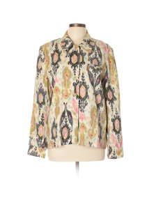 Doncaster Printed Abstract Linen Jacket Blazer