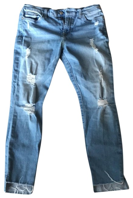 Item - Light Blue Distressed The Ankle Skinny Jeans Size 8 (M, 29, 30)