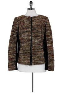 Lafayette 148 New York Multicolor Tweed Zip Jacket