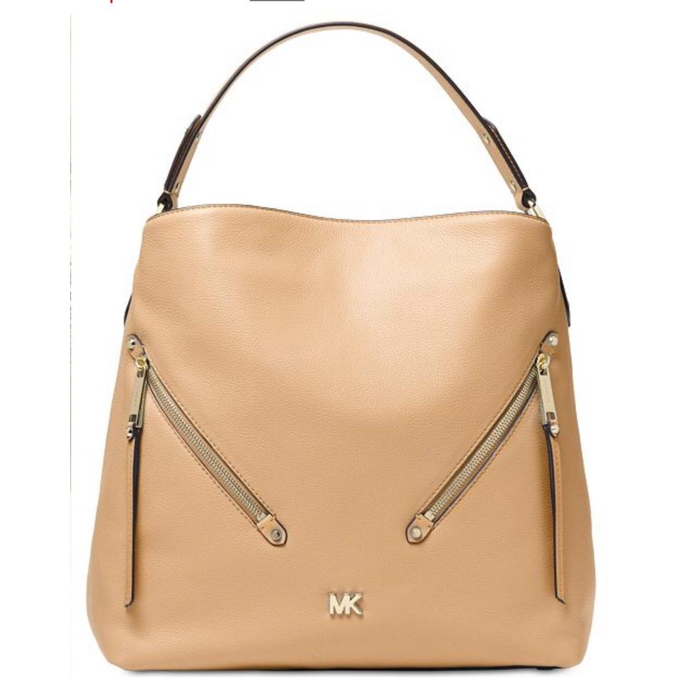 f964e5b6af37 MICHAEL Michael Kors Evie Large Hobo Pebbled Butternut Leather Shoulder Bag