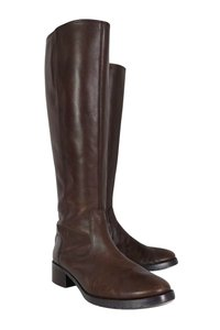 Donald J. Pliner Leather Tall Brown Boots