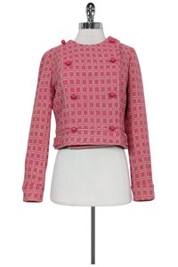 Tracy Reese White Checkered Pink Jacket
