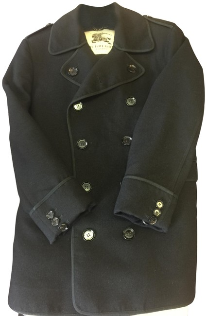 Burberry Black L Mens Wool Jacket / Coat Size OS (one size) Burberry Black L Mens Wool Jacket / Coat Size OS (one size) Image 1