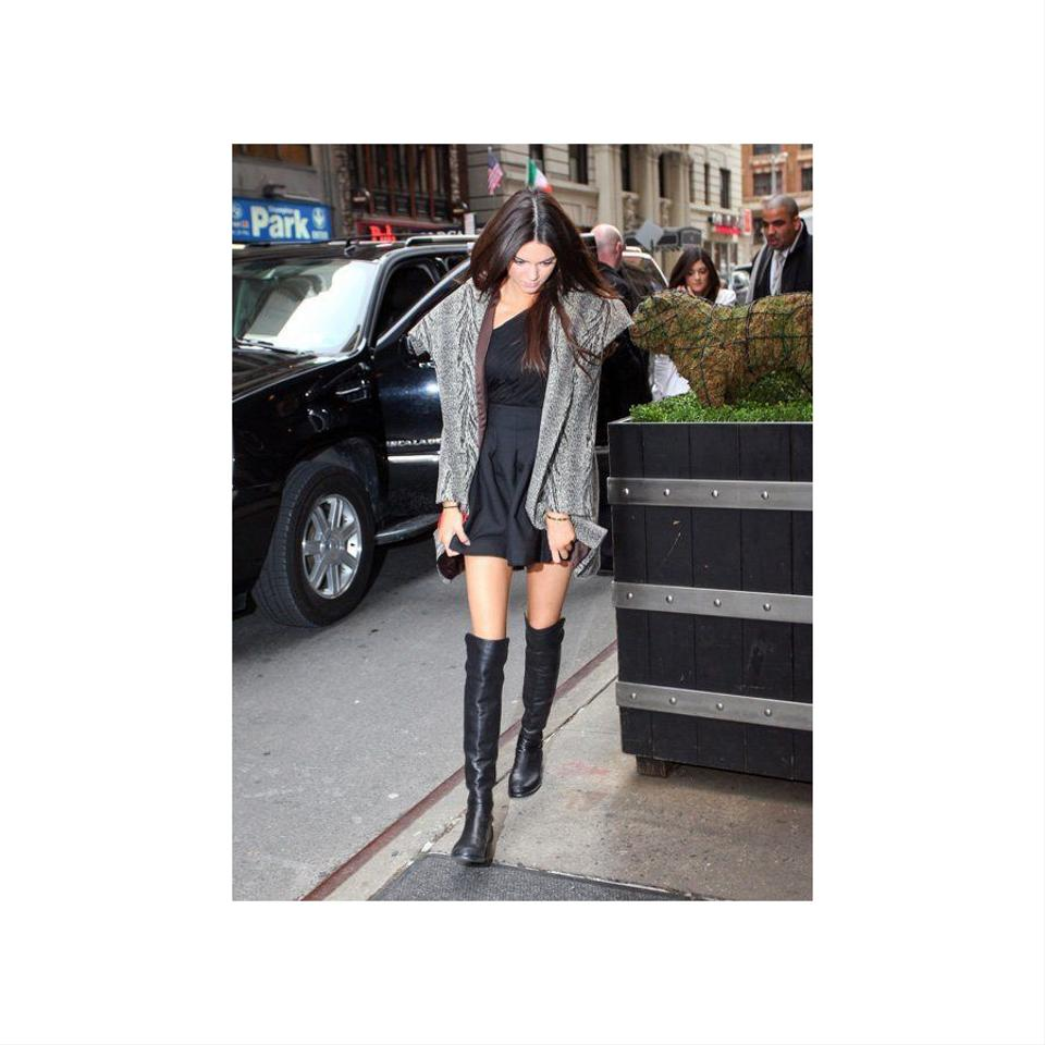 1880650a7 Stuart Weitzman 5050 Reserve Over The Knee Black Boots Image 10.  1234567891011