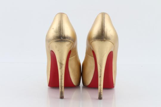 eec48386a52 Christian Louboutin Gold Vendome Metallic Platform Pumps Size US 9.5  Regular (M, B) 41% off retail