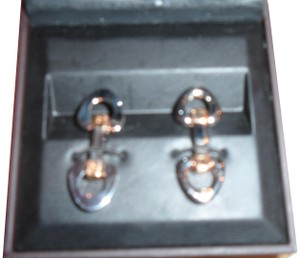Alfred Dunhill Dunhill elegant vintage cuff-links, two-tone unique style gold/silver