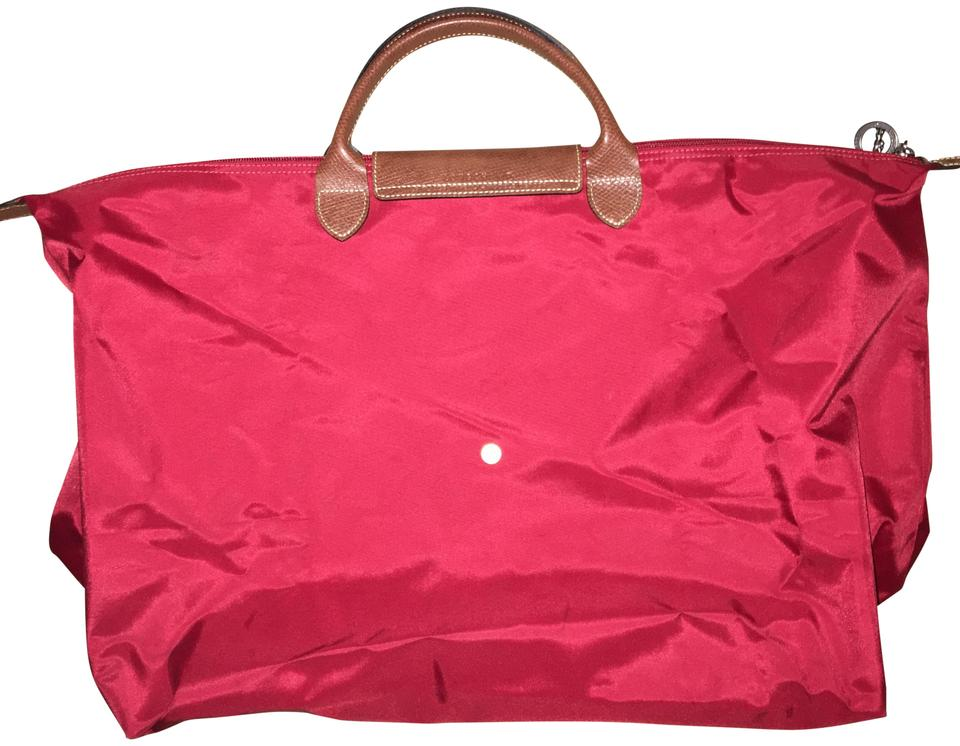 Longchamp Duffle Red Weekend Travel Bag - Tradesy 710af9d4a8024