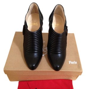 Christian Louboutin Collectors Leather Celebrity Black Boots