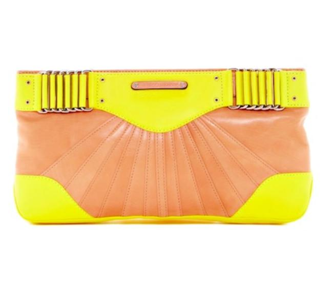 Item - Special Ltd Ed Park Ave Collection Yellow and Tan Leather Clutch