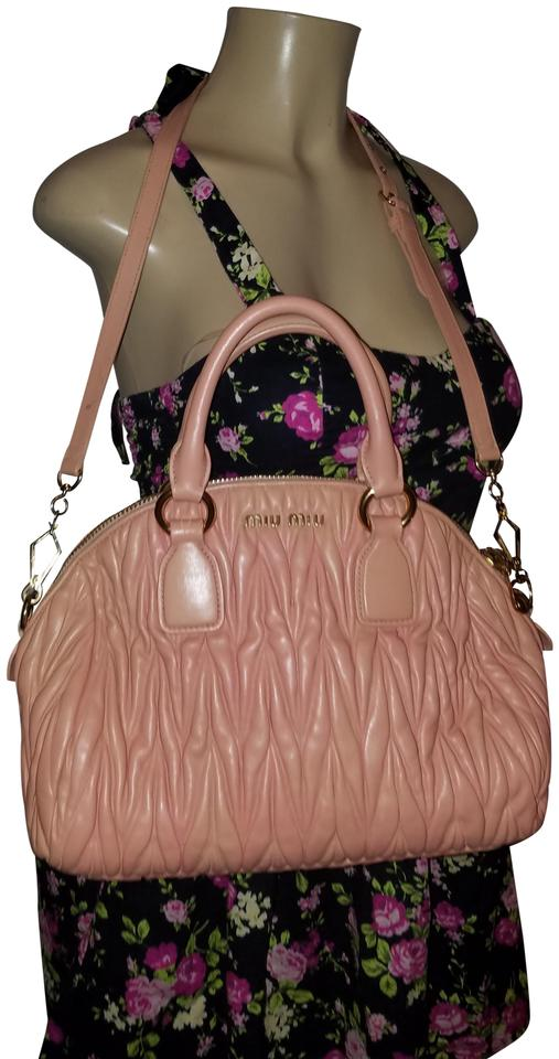 415956bf4093 Miu Miu Bowler Dusty Medium Pink Nappa Leather Cross Body Bag - Tradesy