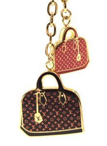 Louis Vuitton RARE alma monogram gold key charms ring chain