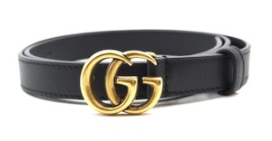 d9cc0bf19e4 Gucci Marmont GG gold logo skinny leather Belt size 85 34