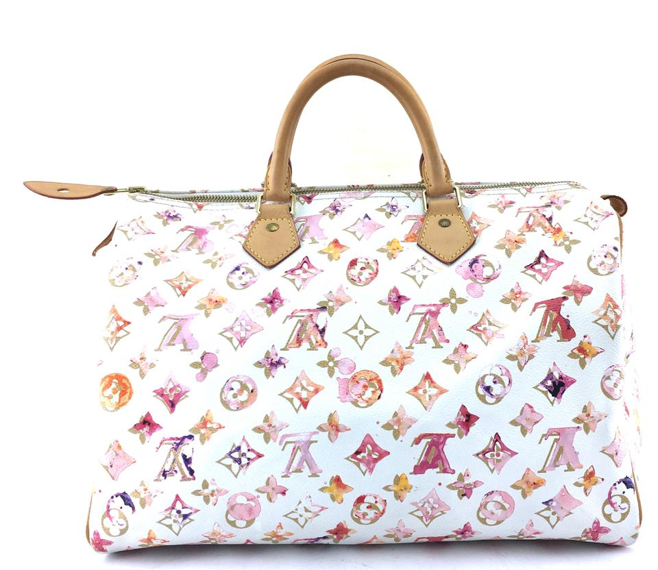 1654314f37d1 Louis Vuitton Speedy 35 Boston Satchel in Limited Edition Monogram  watercolor Image 0 ...