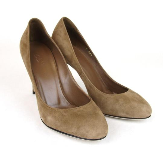 Gucci 338776 Womens Suede Brown/2527 Pumps Image 3