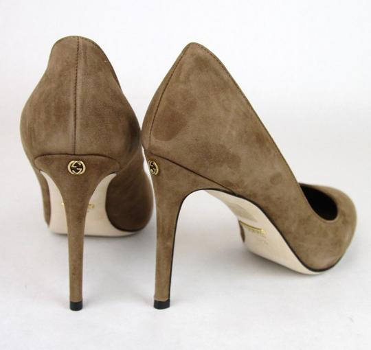Gucci 338776 Womens Suede Brown/2527 Pumps Image 4
