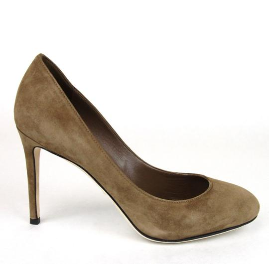 Gucci 338776 Womens Suede Brown/2527 Pumps Image 5