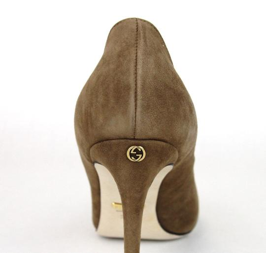 Gucci 338776 Womens Suede Brown/2527 Pumps Image 7