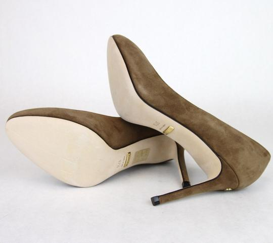 Gucci 338776 Womens Suede Brown/2527 Pumps Image 8