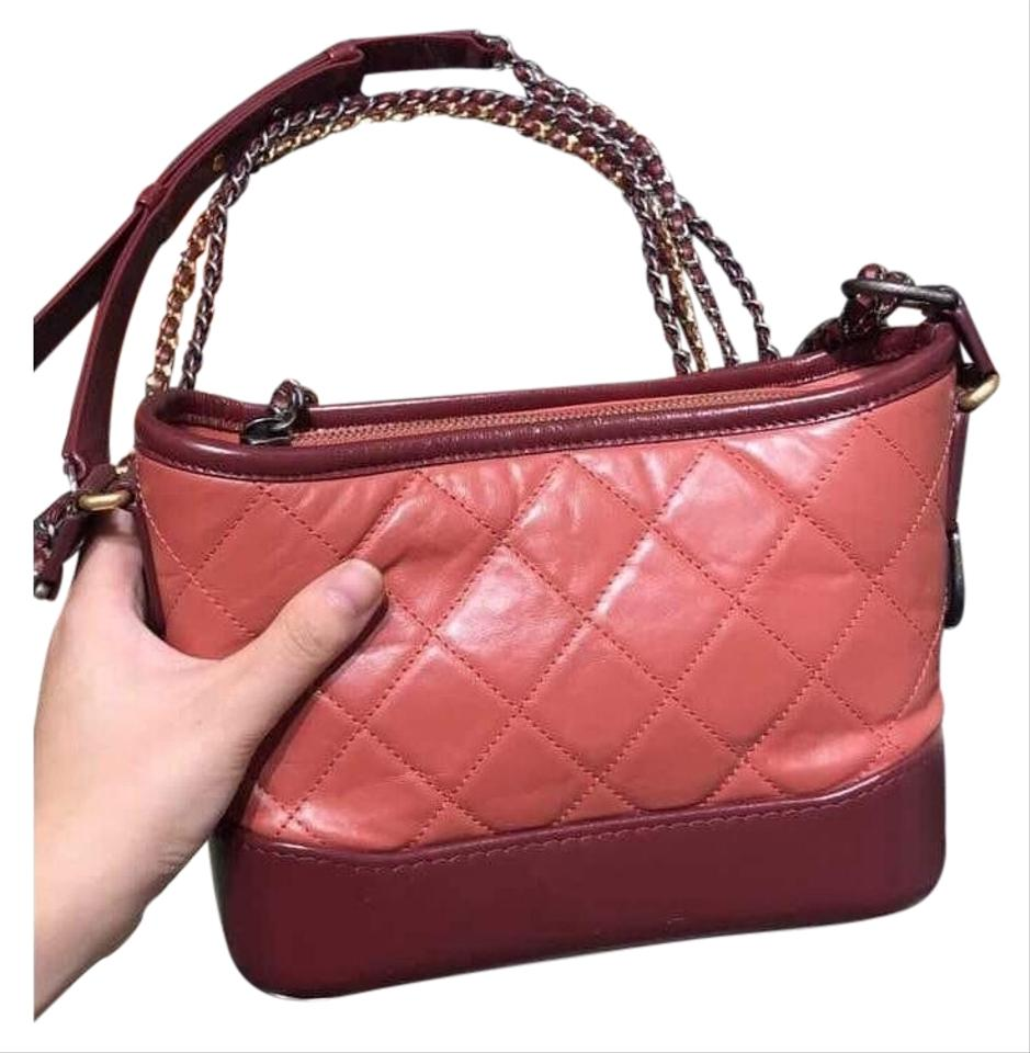 0cd7792bd385 Chanel Gabrielle Hobo Quilted Small Red Calfskin Leather Hobo Bag ...
