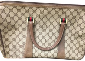 Gucci Satchel in Br/Red/Gr