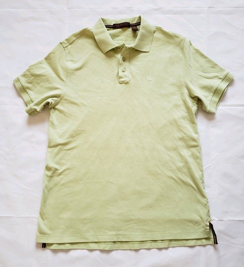Tori Richard Lemongrass Green Monkey Logo Sleeve Polo Shirt Image 0