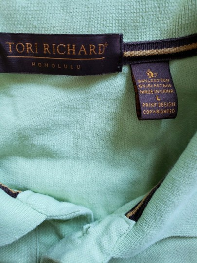 Tori Richard Lemongrass Green Monkey Logo Sleeve Polo Shirt Image 2