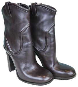 Gucci Leather Cowboy Brown Boots