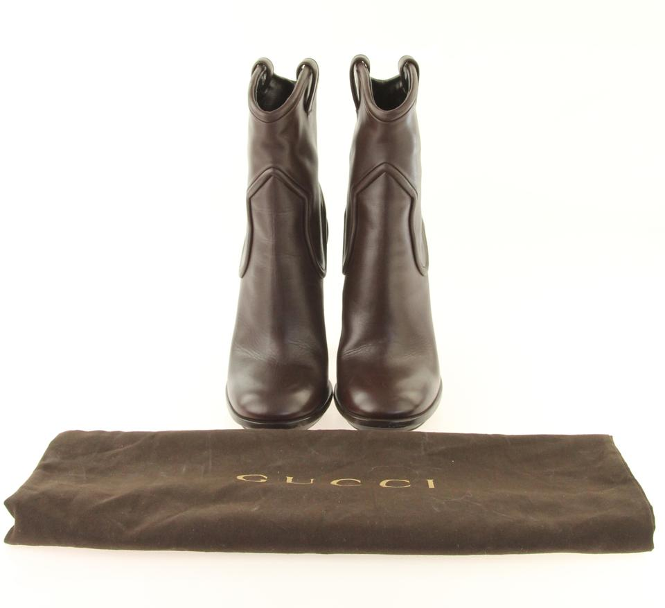 90aac201a8e Gucci Brown Western-inspired Mid-calf Boots Booties Size EU 39 ...
