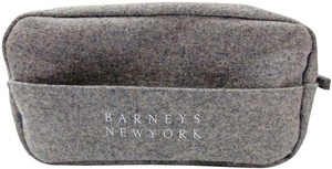 Barneys New York Barneys New York Make-Up Case Cosmetic Toiletries Bag Gray Ltd. Ed.