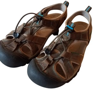 Keen Waterproof Sport Dark Earth/Carribean Sea Sandals