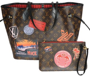 Louis Vuitton Neverfull Mm World Tour Monogram Tote in Brown