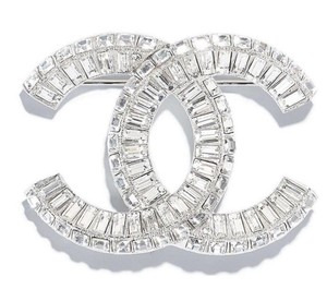 Chanel BRAND NEW LARGE CHANEL CRYSTAL CC LOGO PIN BROOCH SPARKLY BOX TAGS