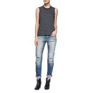 Rag & Bone Boyfriend Cut Jeans-Distressed