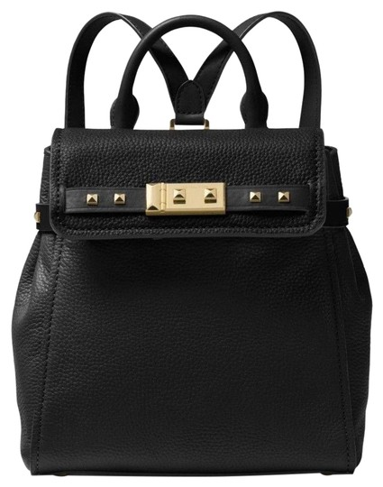 fca6635df7ae Michael Kors Addison Small Pebbled Black Leather Backpack - Tradesy